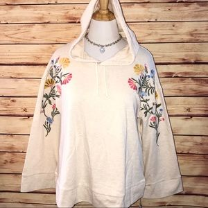 🆕 Style & Co Floral Embroidered Hoodie